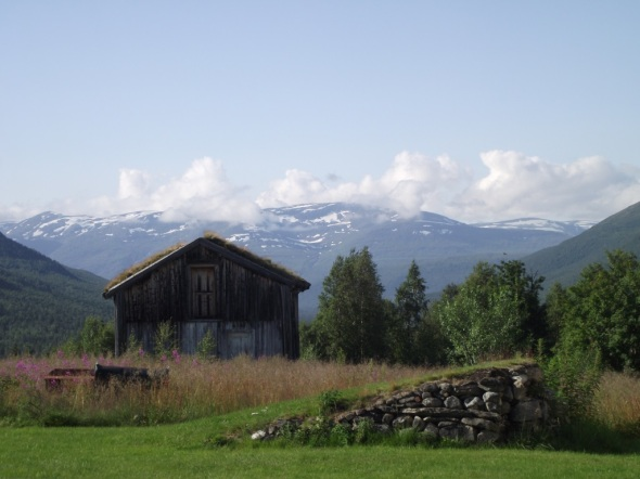Vackert väder vid Andfjell i Norge 2012.