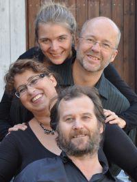 Bild på fyra fabulister.